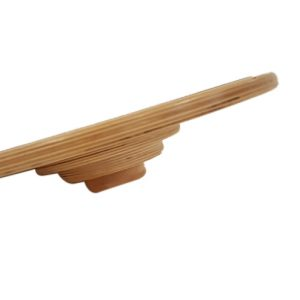 "Tilted view of 16"" round balance board"