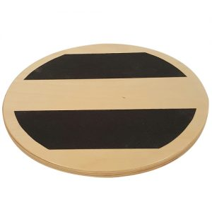 "Top view of 16"" round balance board for circumduction training."
