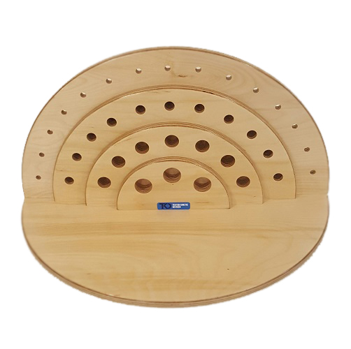 Semi-Circular Peg Board – 36 Hole – Reversible