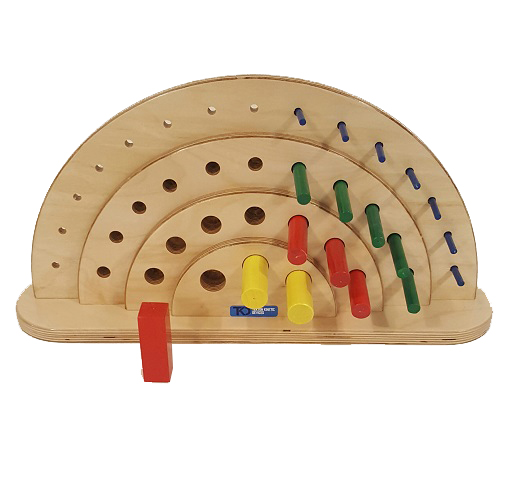 Semi-Circular Peg Board – 36 Hole – Vertical