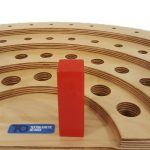 Semi-Circular Peg Board – 52 Hole