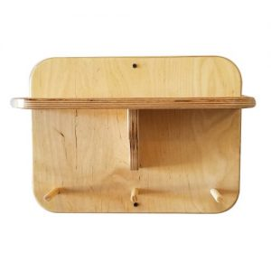 "16"" Gym Accessory Corbel Shelf - With Dowels"