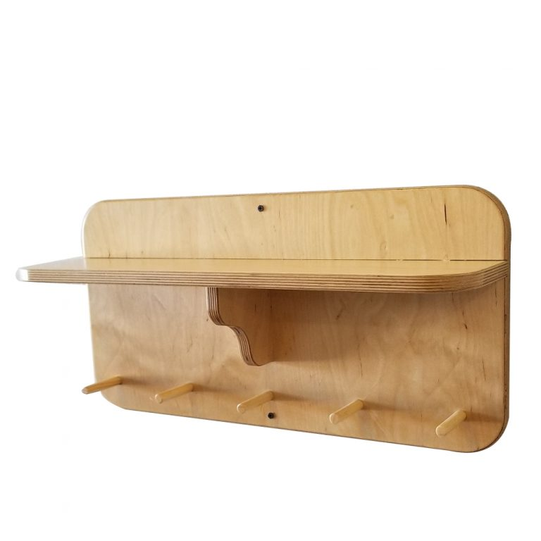 "24"" Gym Accessory Shelf – with Dowels"