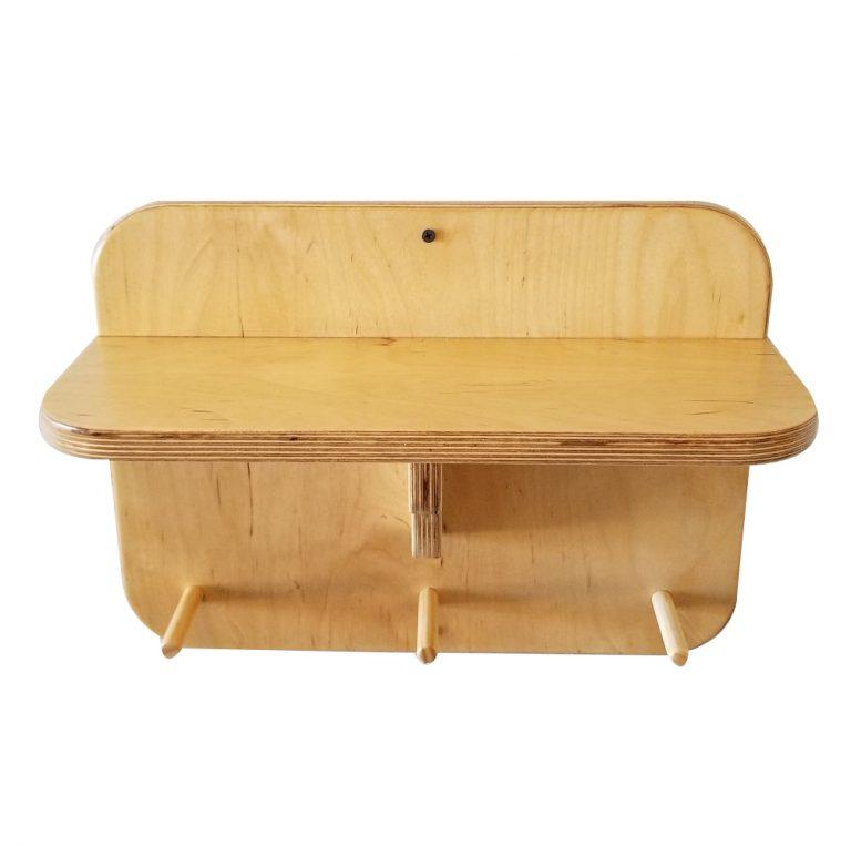 "16"" Gym Accessory Corbel Shelf - With Dowels"
