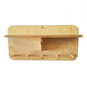 "24"" Gym Accessory Corbel Shelf - With Dowels"