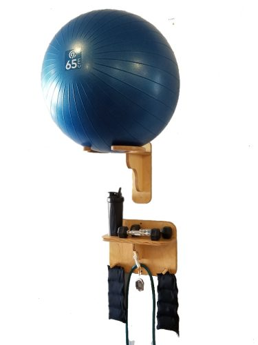 "Exercise Ball Rack with 16"" Accessory Shelf"