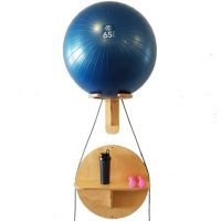 "Exercise Ball Rack with 24"" Round Accessory Shelf"